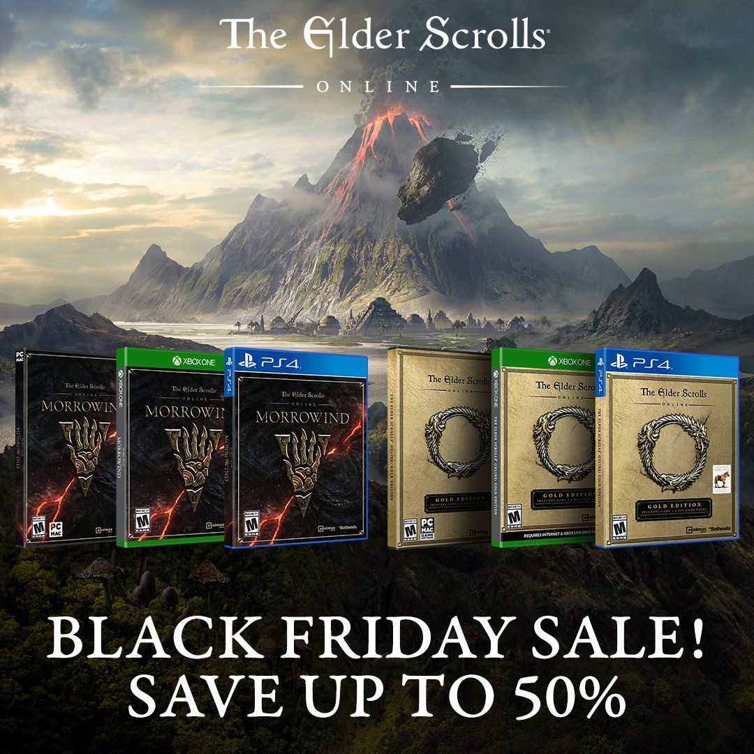 Black Friday Also Comes To The Elder Scrolls Online | Elder Scrolls