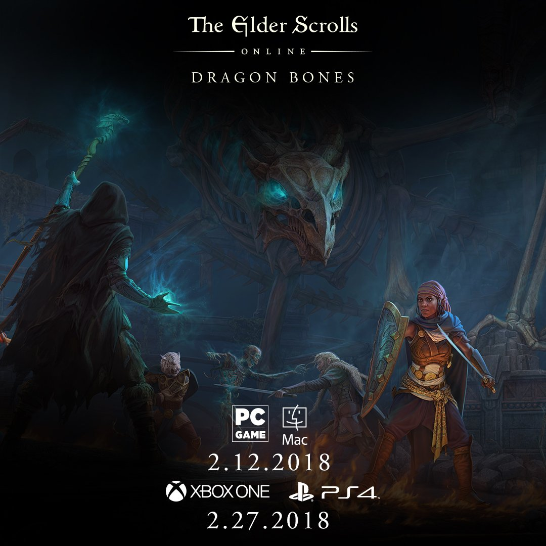 DLC Dragon Bones For ESO Has Release Date For PC/ PS4/ Xbox | Elder